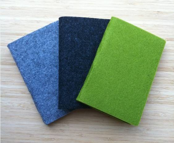 Felt Cover Notebook/Jotter/Notizbuch/Taccuino/Cuaderno