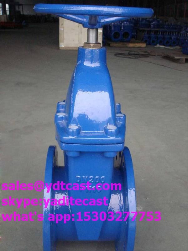 din gate valve fangle DN30-400 top cap