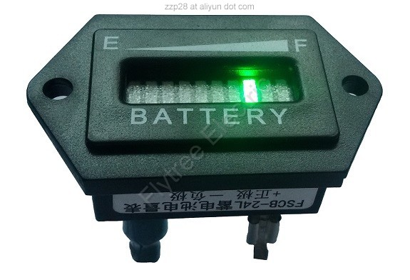 hexagon battery gauge
