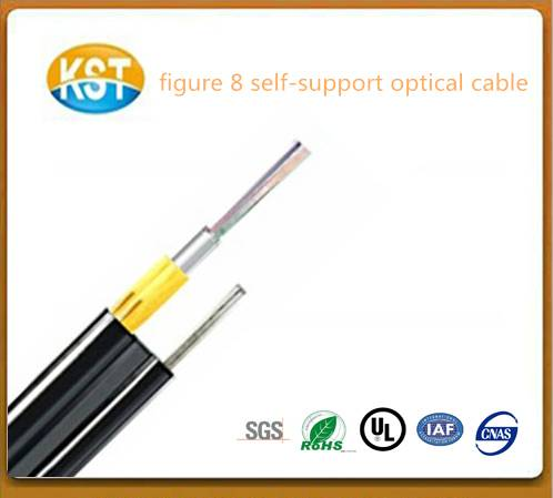 kevlar yarn/Figure 8 self-supporting loose tube outdoor optical cable
