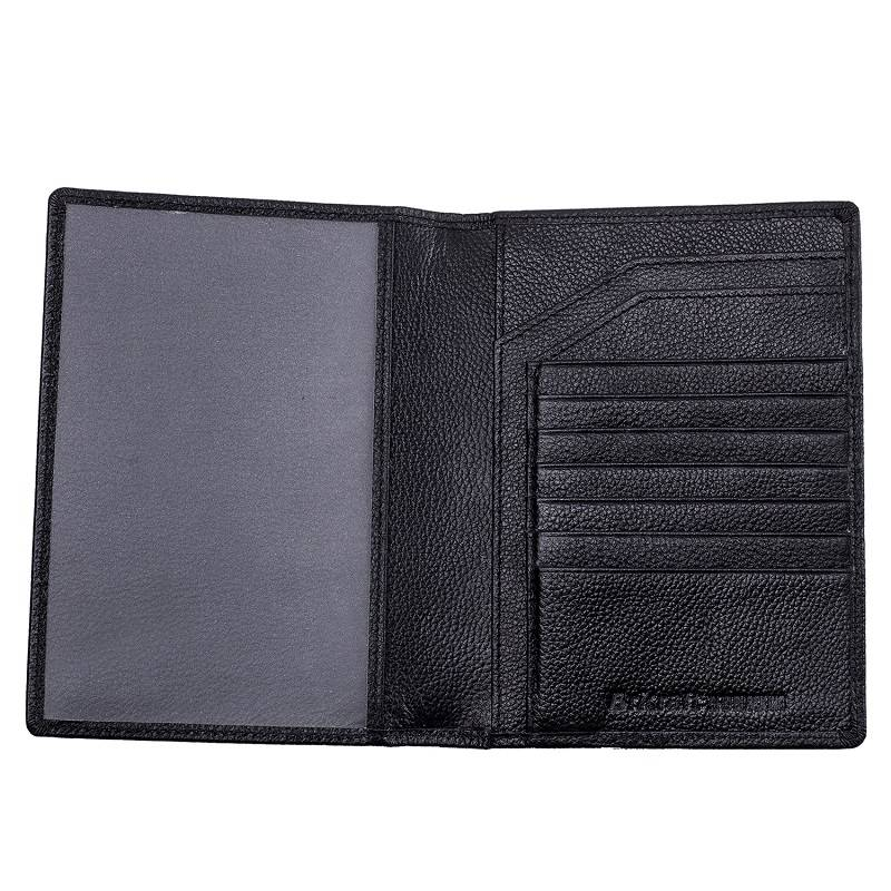 Wholesale Price Unisex RFID Blocking Cowhide Leather Passport Holder With Card Holder