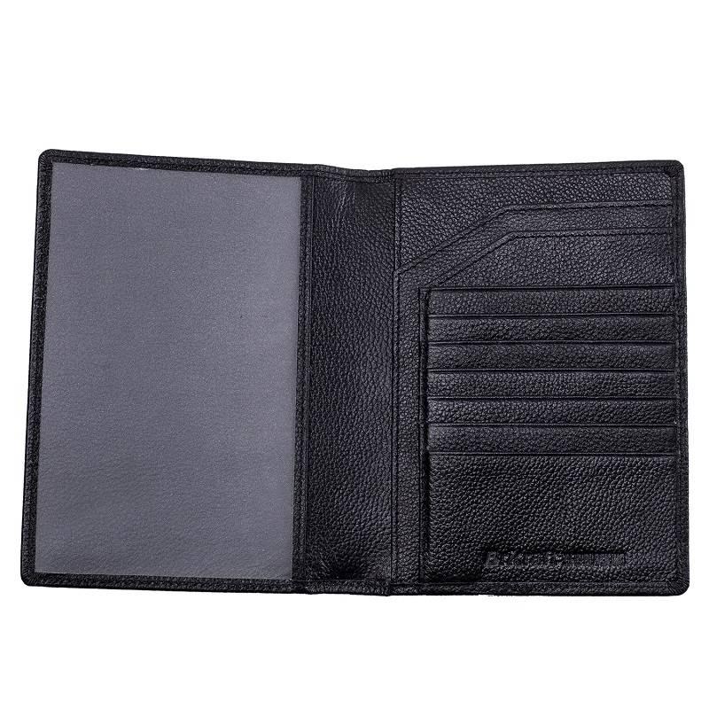 Wholesale Price Unisex RFID Blocking Cowhide Leather Passport Holder With Card Holder