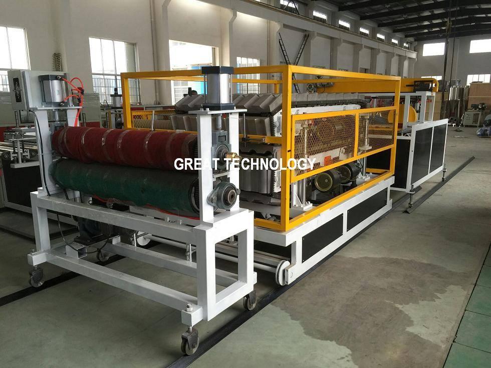 Glazed corrugated PVC roofing tile making machines