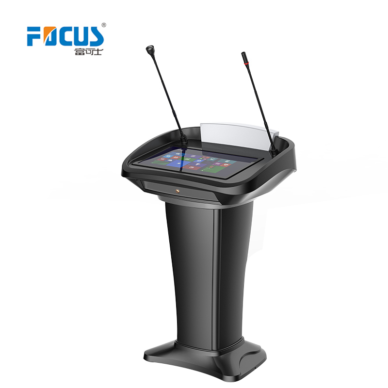 "Digital Podium Plastic V-shape Body/ Conference Platform with 21.5"" touch AIO PC"
