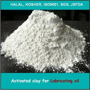 Activated clay for lubricating oil