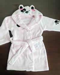 children's pink panda sleep gown