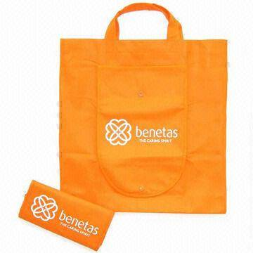 Promotional nonwoven foldable bag