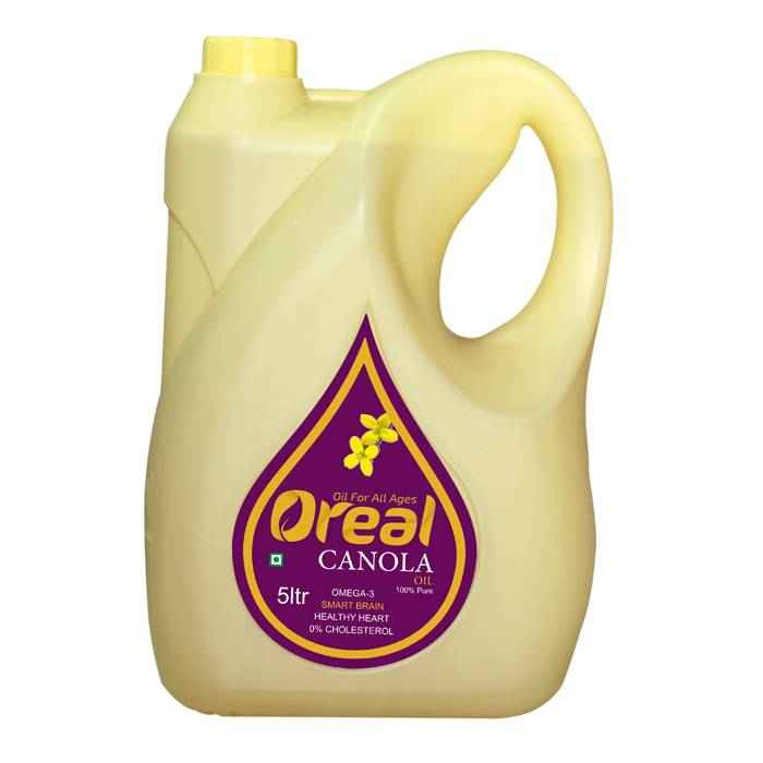 OREAL CANOLA OIL 5LTR (PACK OF 4)
