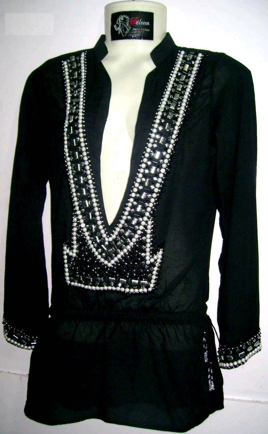 Ladies Hand beaded Tunic Tops