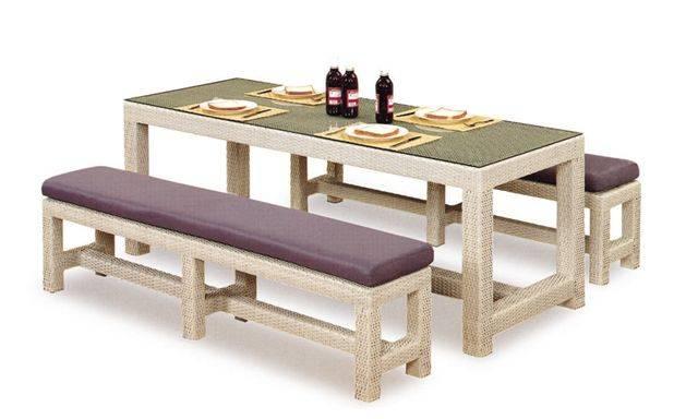 Patio furniture rattan/wicker leisure bench