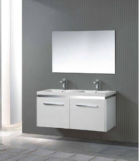 hot sell double glass sink bathroom vanity