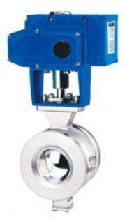 Electronic v-type ball valve