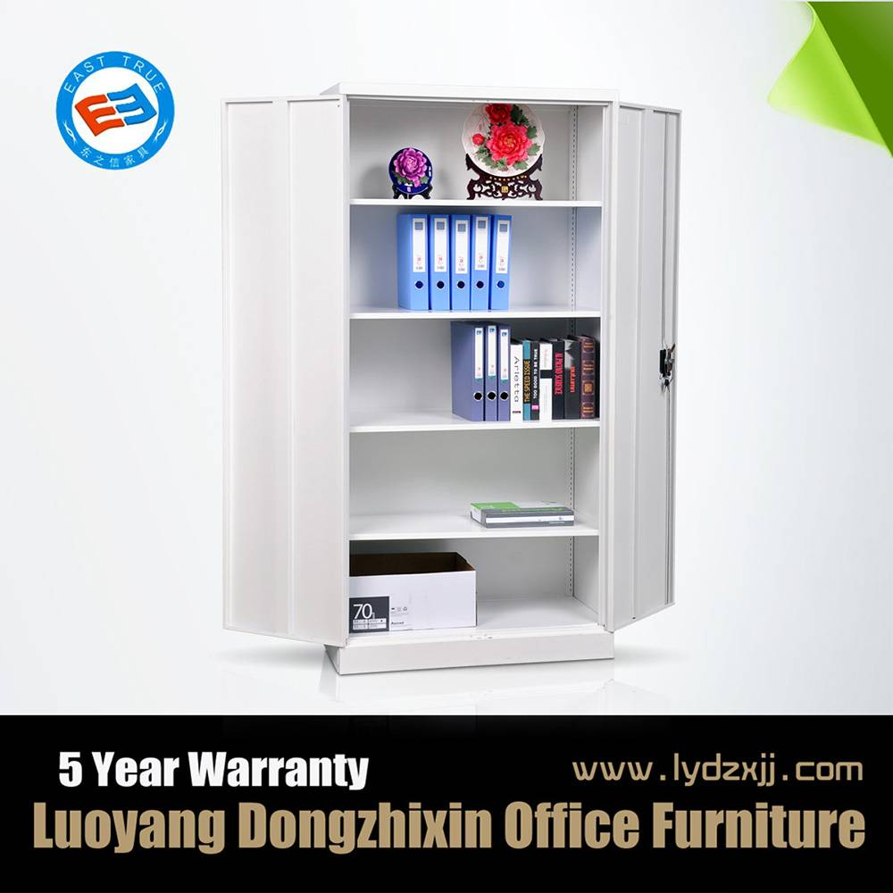 Knock down office steel double door filing cabinet