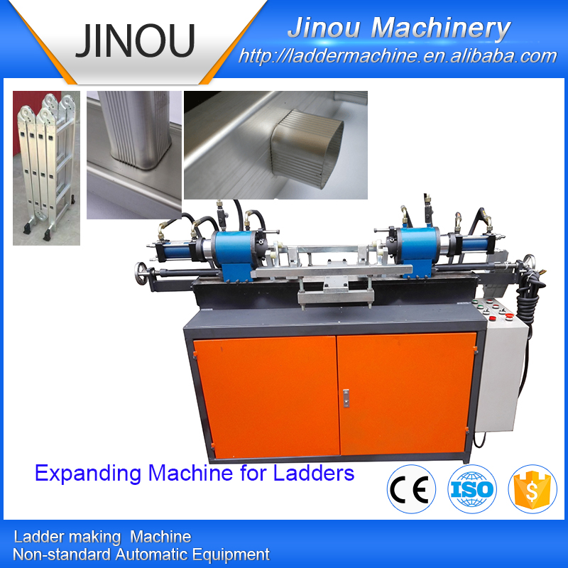 Automatic tube expanding machine for multipurpose ladders