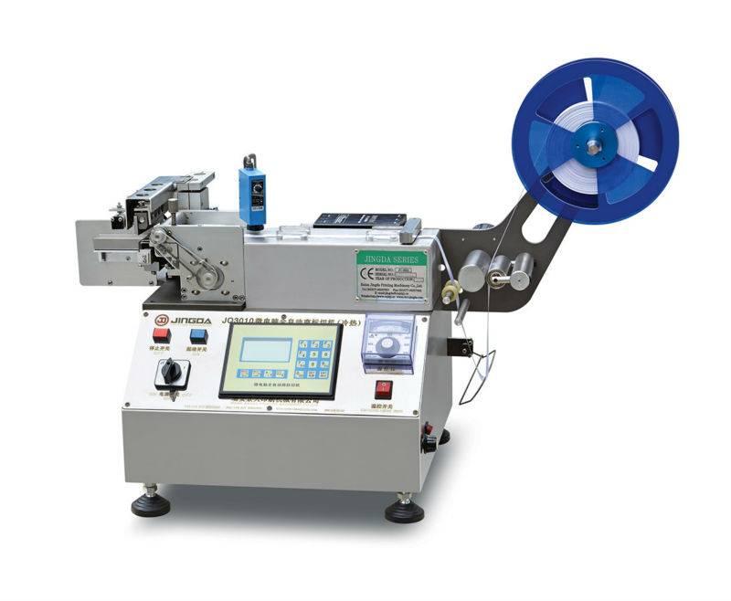 Woven, Satin Ribbon, Cloth Label Cutting Machine / Micro-Computer Logo Cutter (Hot and Cold) JQ-3010
