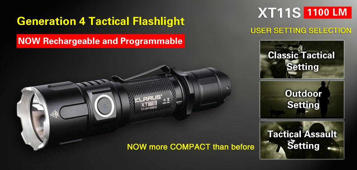 Tactical/Outdoor Flashlight-Klarus XT11S