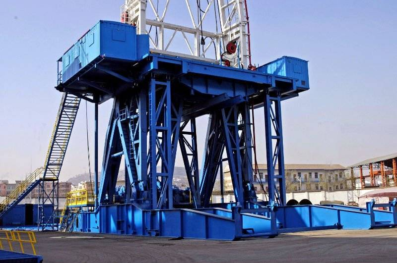 substructure for oil drilling rig