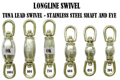 Longline swivel - Leaded barrel swivel