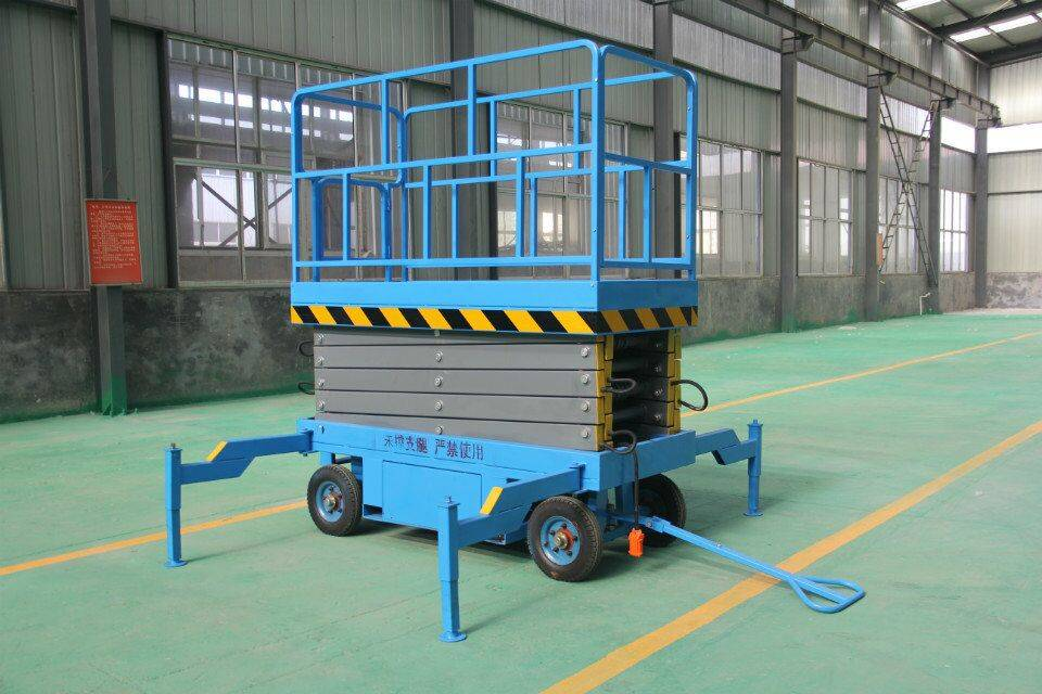 Hydraulic mobile scissor lift aerial work platform/movable scissor lift