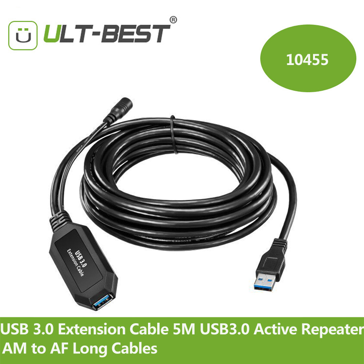 ULT-Best USB 3.0 Extension Cable 5M USB3.0 Active Repeater A Male to A Female Long Cables