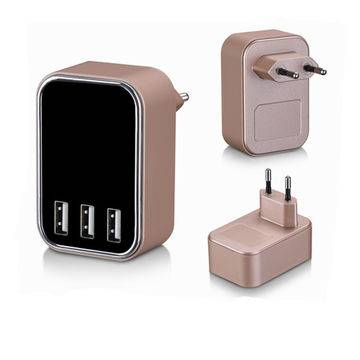 5V 4.5A three USB ports charger with smart IC for iphone/ipad and samsung