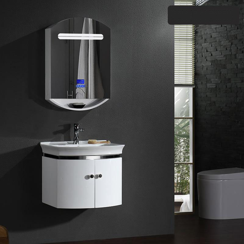 New style PVC bathroom vanity, modern art style and bluetooth music player, countertop