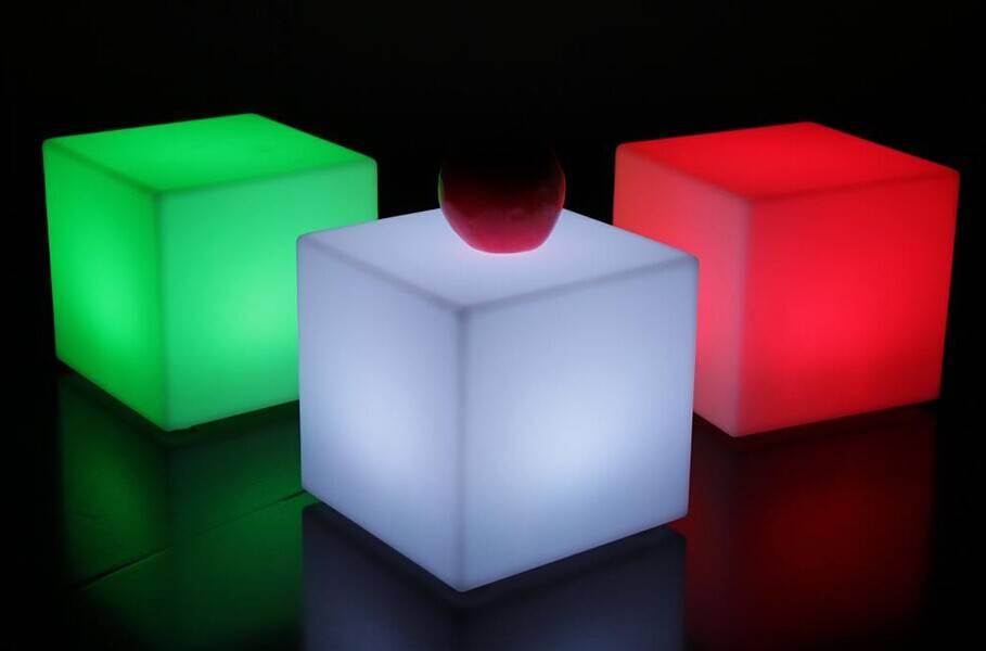 LED plastic cube