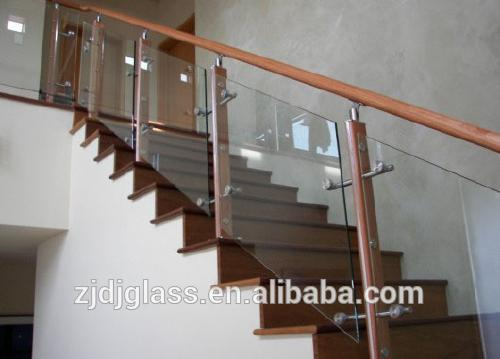 tempered and laminated glass stair railing