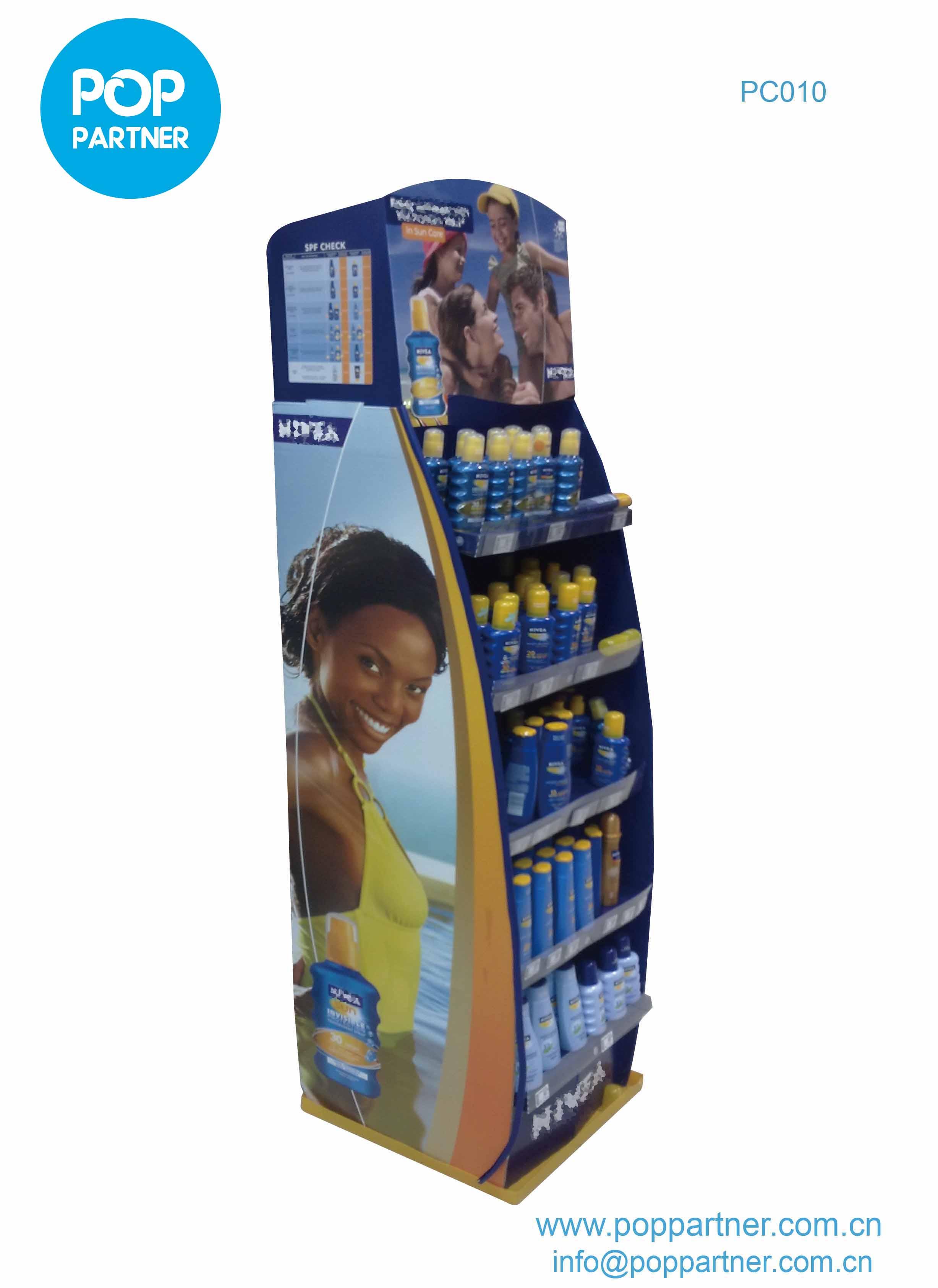 5-shelf Floor Display Cardboard for travel accessories
