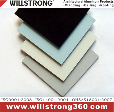 PVDF coating acp aluminium composite material panel