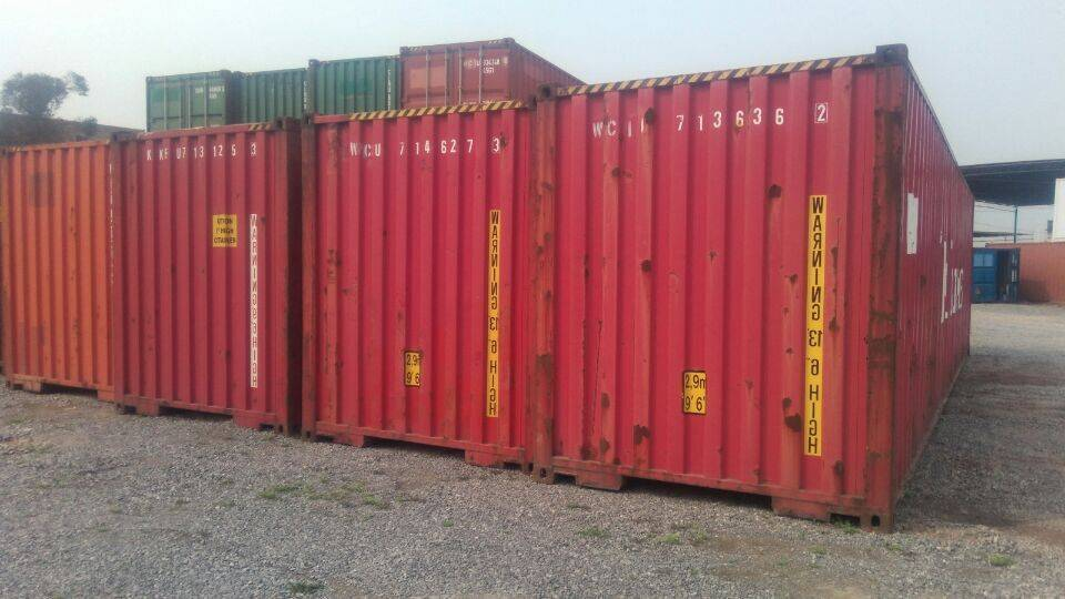 Used/second hand 40 feet high cube shipping containers
