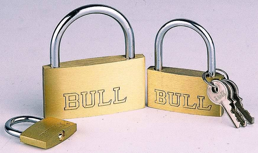 Super thin type brass padlock