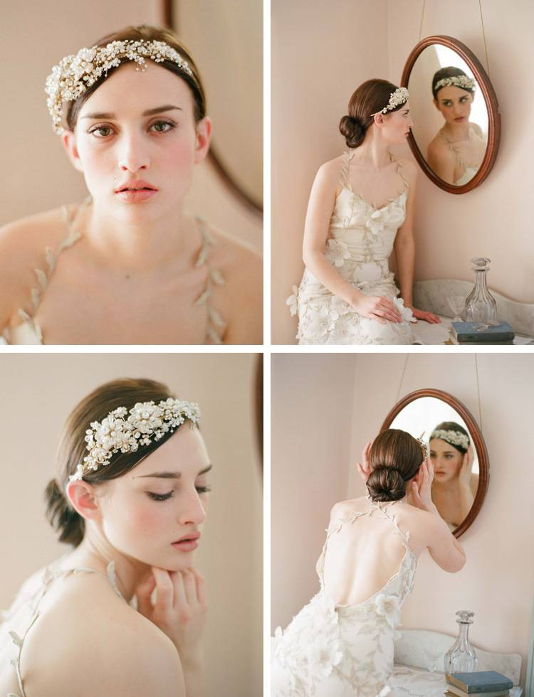 The bride wedding dress accessories hair hoop crown heavy manual costly pearl crystal ornaments head