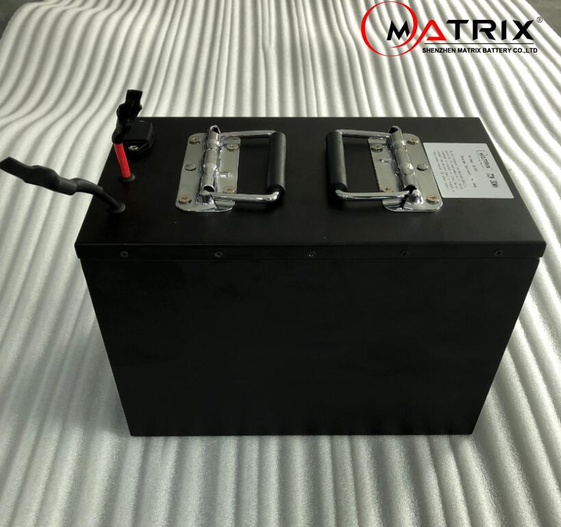 Matrix Electric Motorcycle Battery 72V 20Ah 2000W Lithium Ion Battery with Build-in BMS and Case