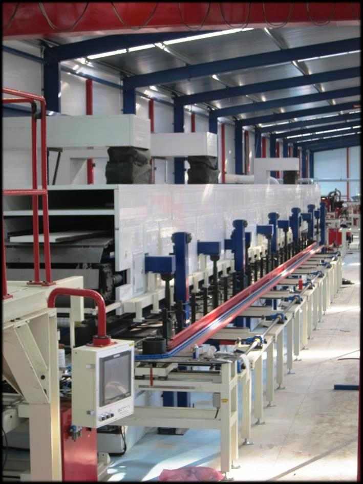 EPS/PU/PIR sandwich panel production lines