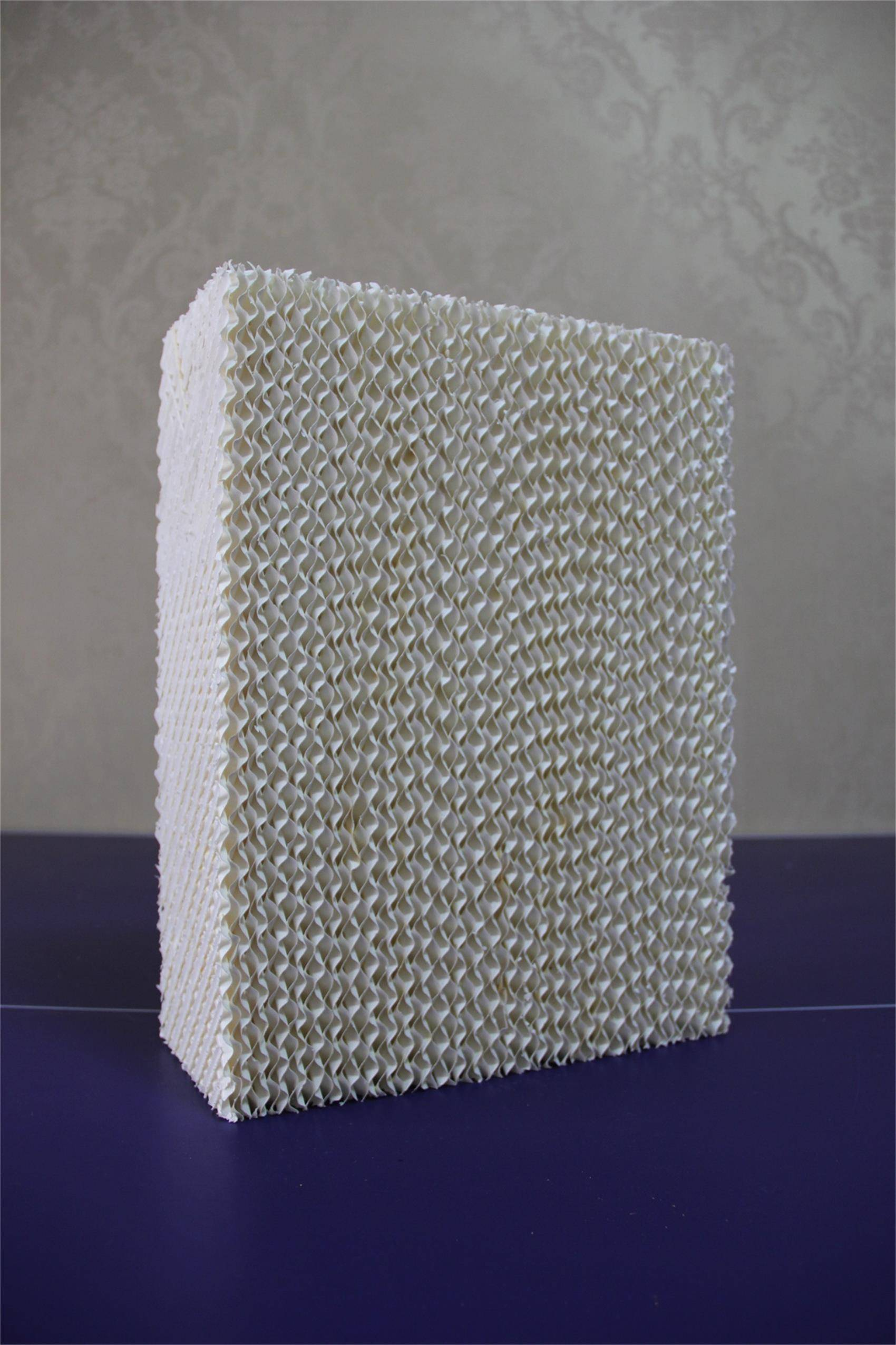 white evaporative cooling pad