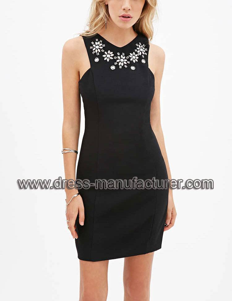 Hot sale L1899 Rhinestone Embellished Sheath Dress For Women