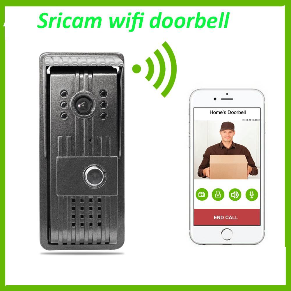Sricam HD 1mp Wireless WiFi Smart Video Doorbell Door Phone Intercom for Home Security
