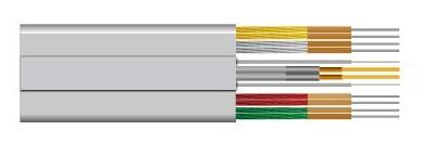 flat PVC insulated sheathed lift cable