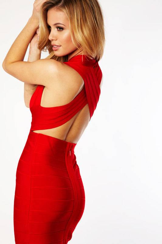 2013 Evening dress bandage dress red party dresses Prom Dresses 2013