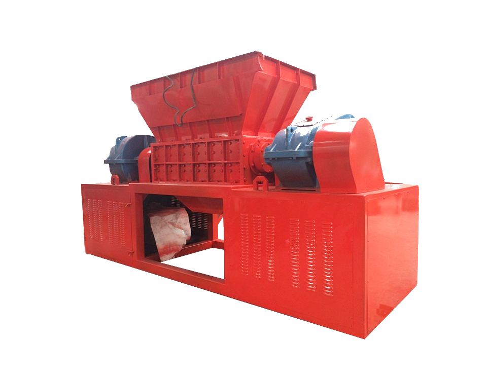 Industrial double shaft scrap metal shredder