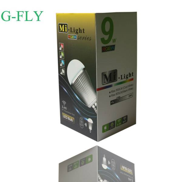 multi-colors RGBW led lamp 6w/9w hot sale from china