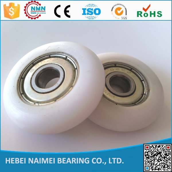 custom POM PA66 nylon shower door bearing wheels