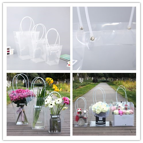 Clear Transprent PP Plastic PVC Flower Packaging Wrapping Gift Bag for Florist Supplies