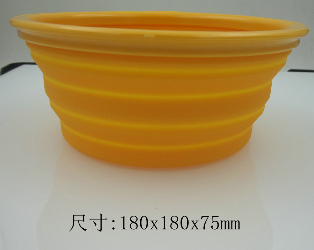 silicone colorful round dog bowl