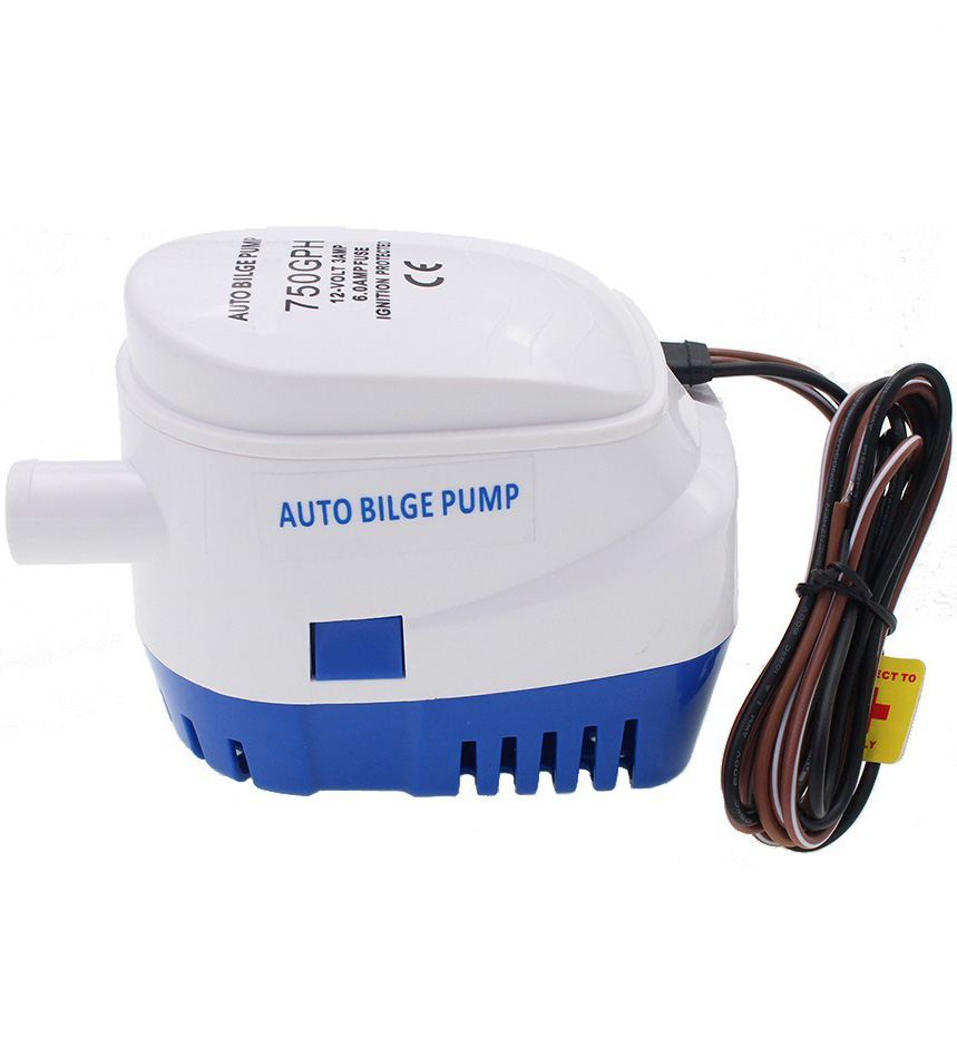 Submersible Marine Automatic Bilge Pump with Float 750 GPH 12V