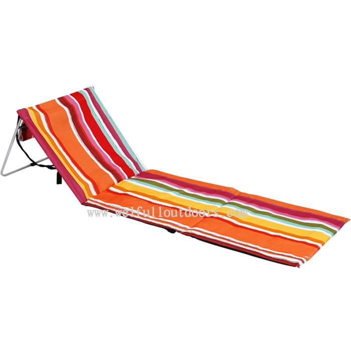 Modern Camping Beach Metal Chair, Metal Folding Chair Seat Cushions