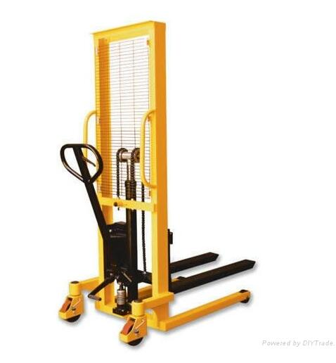 manual forklift stacker/ hydraulic lift pallet jack truck