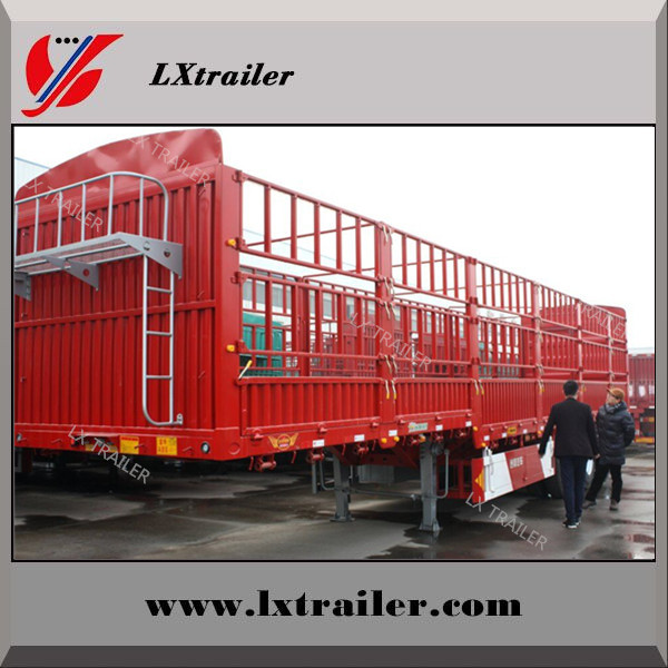 Best price tri-axle fence semi trailer / trailer truck 40ft for sale