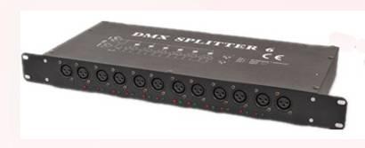 DMX splitter 6 HL-8022